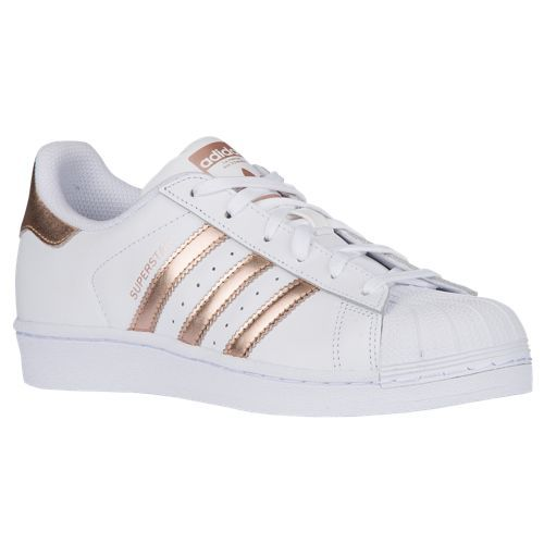 adidas Originals Superstar - Women's Casual - White/Copper Metallic/White BA8169