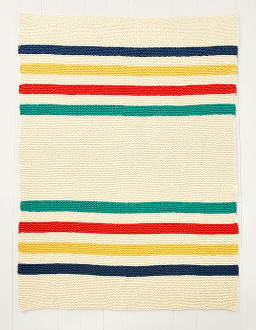 I LOVE this Hudson blanket inspired knit! Must have taken a long ...