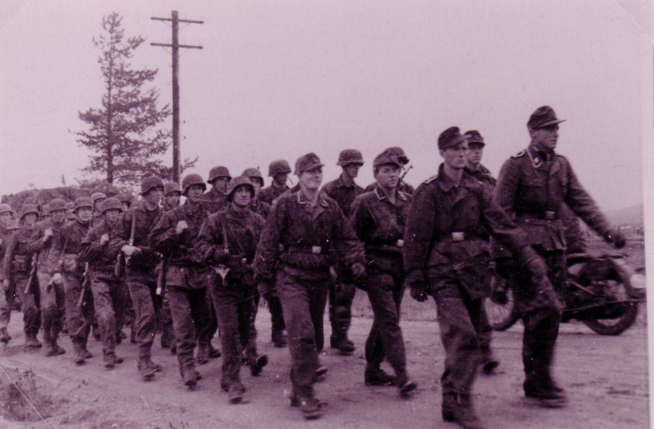 "2 photos of the SS Schijäger Battalion ""Norge""."