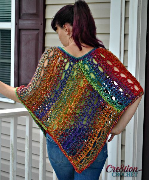 Unique lace poncho ponchos crochet edgings and single crochet free lace poncho pattern misses s m and l and plus sizes dt1010fo