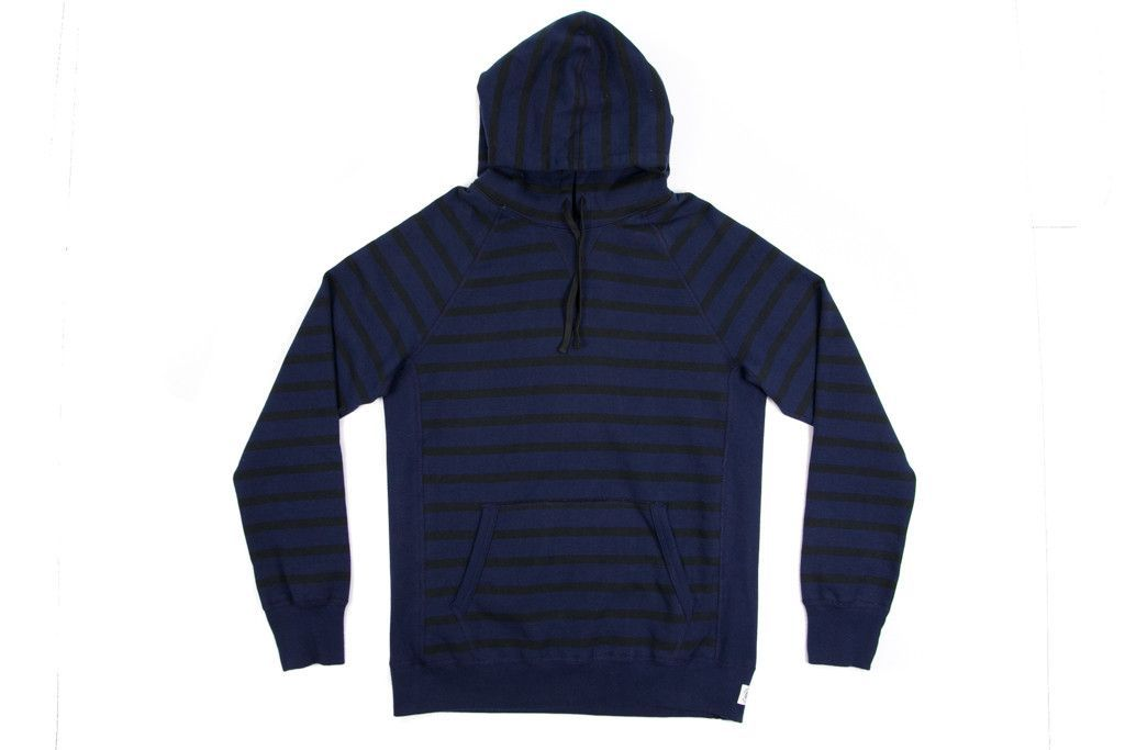 Reigning Champ x Beauty & Youth Stripe Heavyweight Terry Hoodie - Navy/Black Stripe