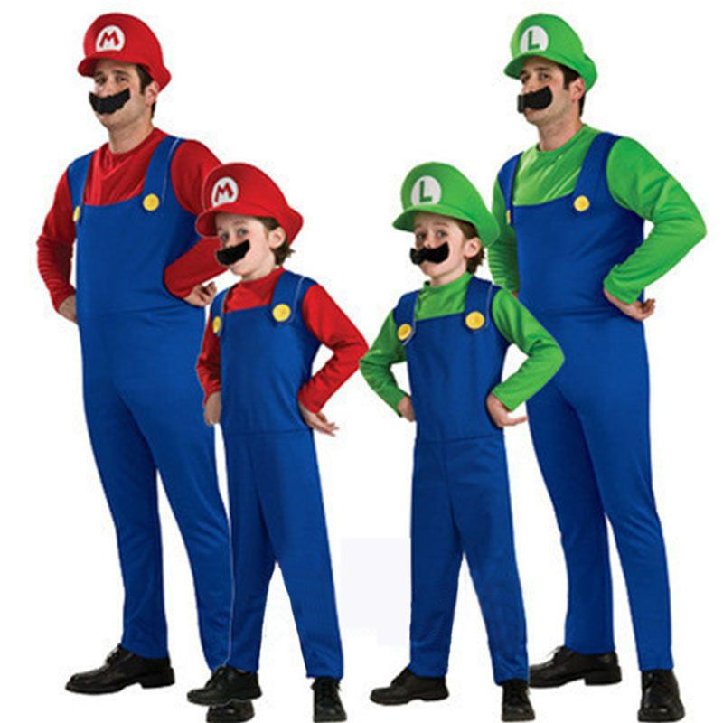 mario luigi puis d guisements enfants adultes super bros d guisement halloween anniversaire. Black Bedroom Furniture Sets. Home Design Ideas