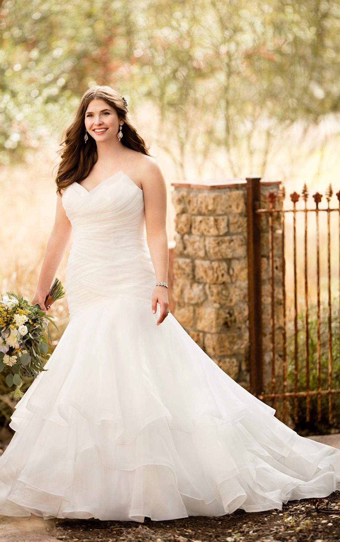 Wedding Gowns | Chapel train, Bridal gowns and Wedding dress