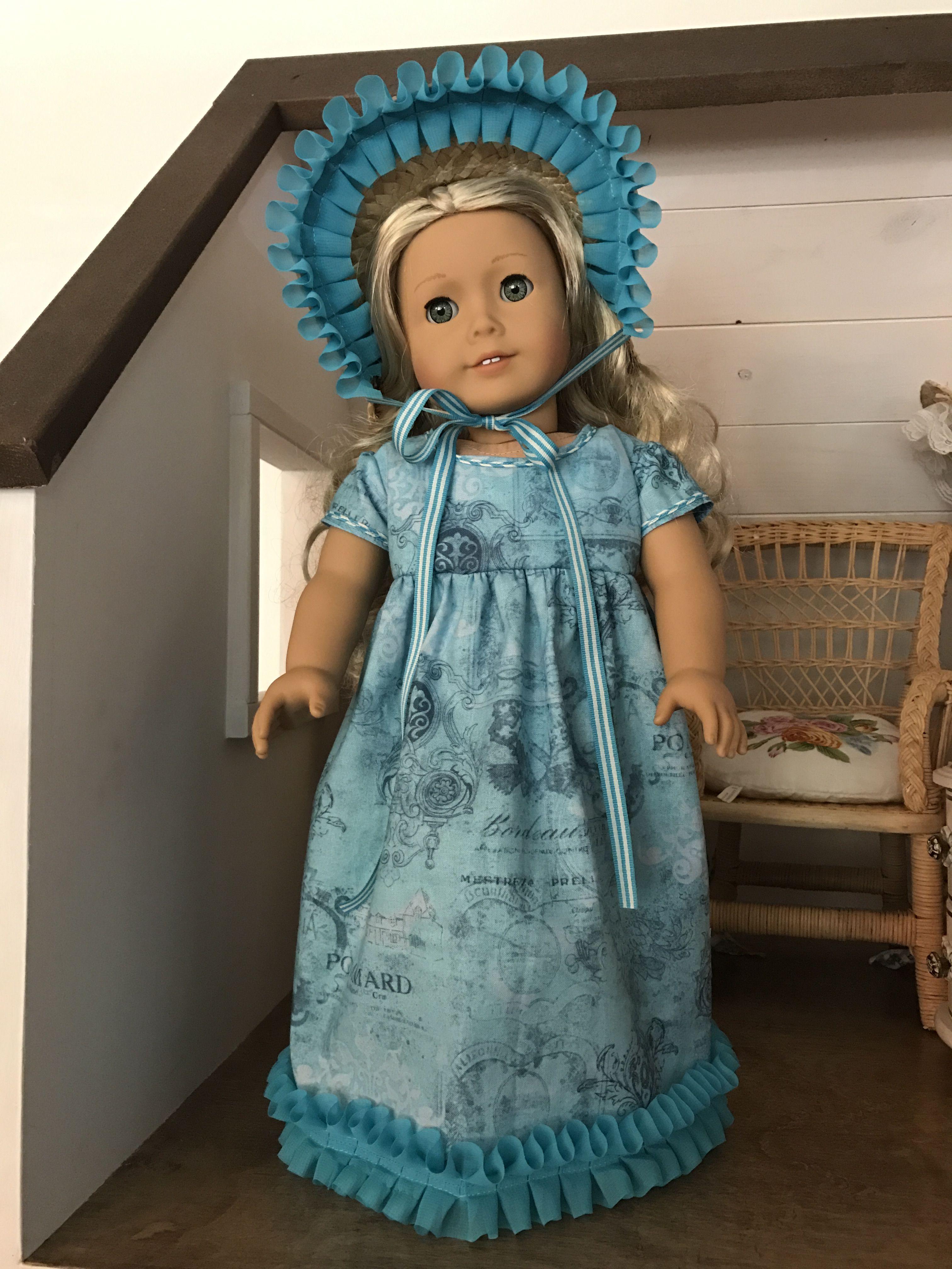 Regency Era Dress for American Girl Caroline | Doll Clothes | Pinterest