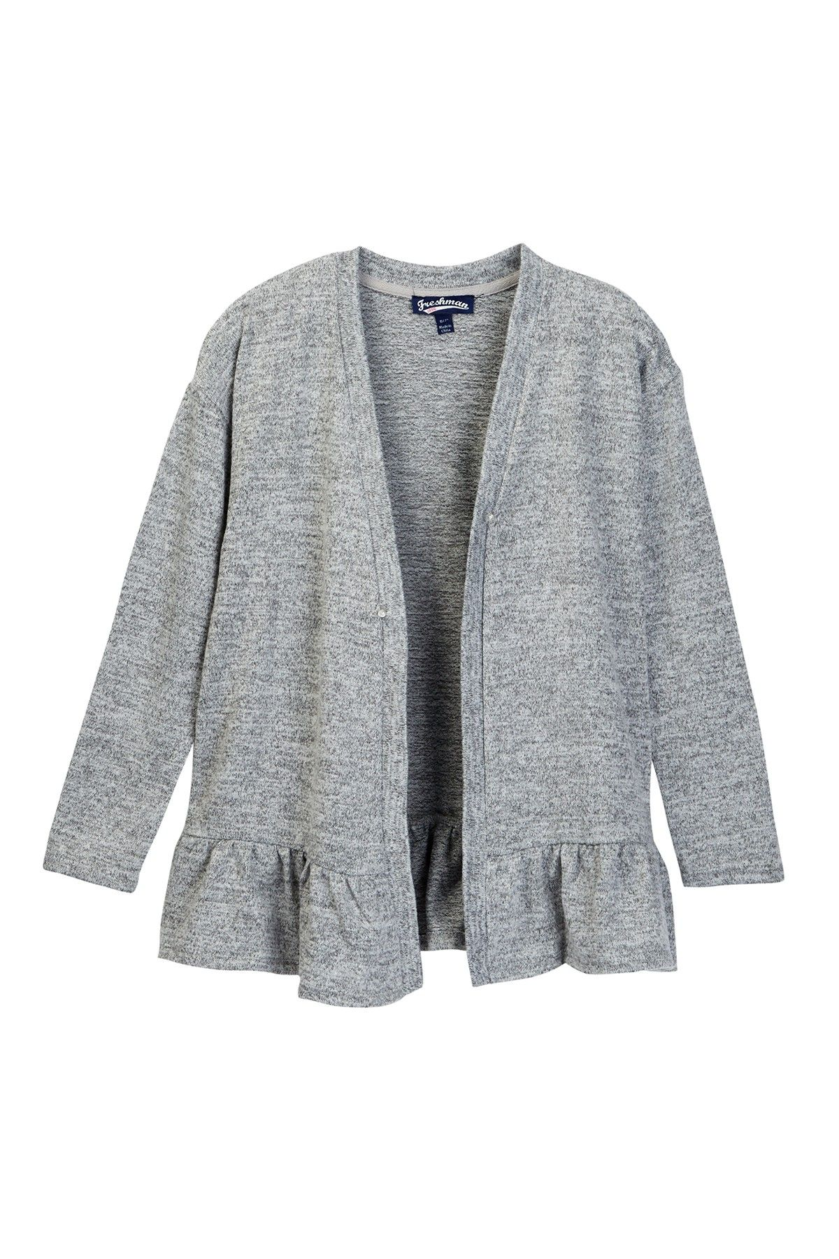 Long Sleeve Open Front Cardigan Sweater (Big Girls) | Products