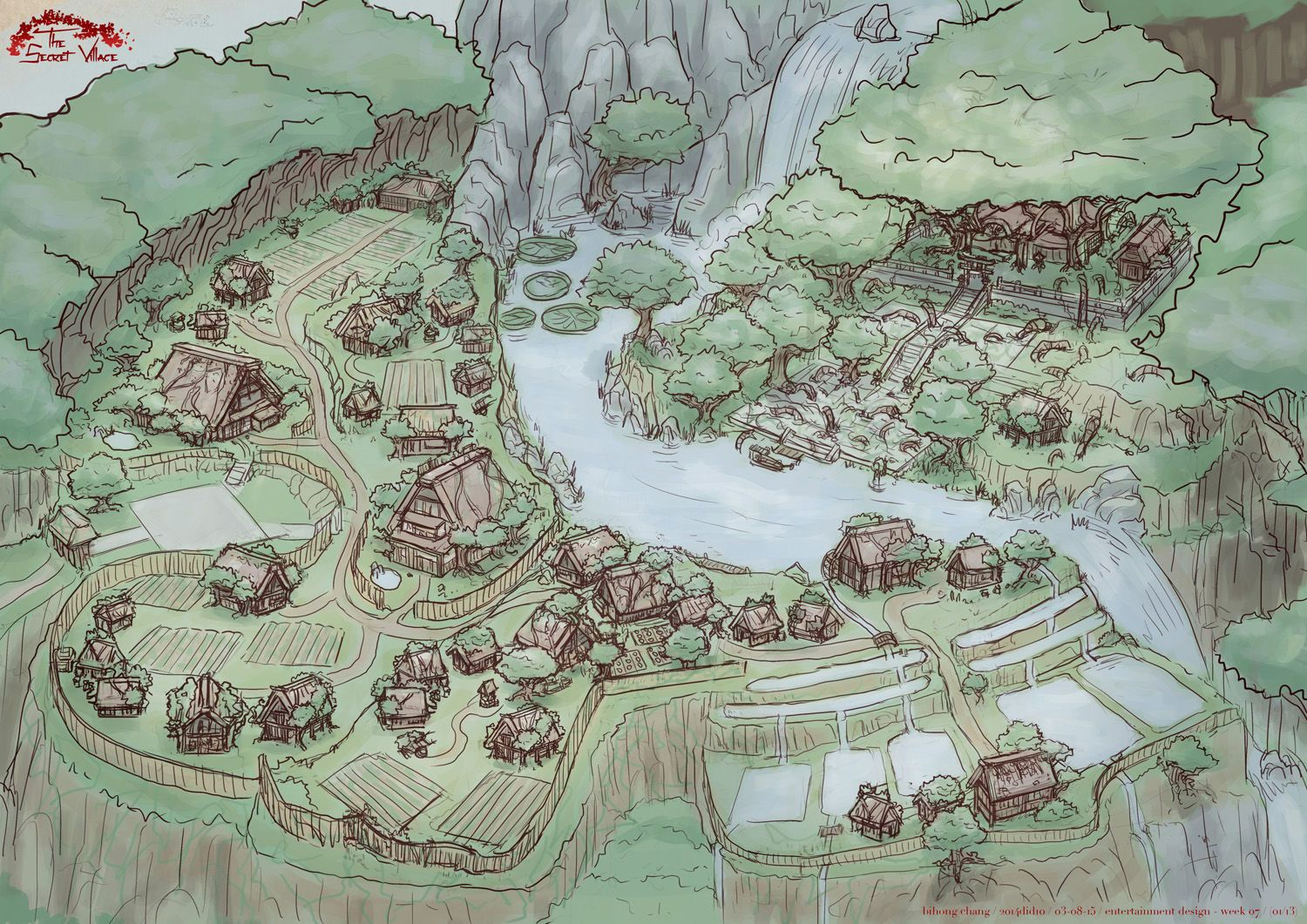 Elf And Human Village Town City Settlement Landscape