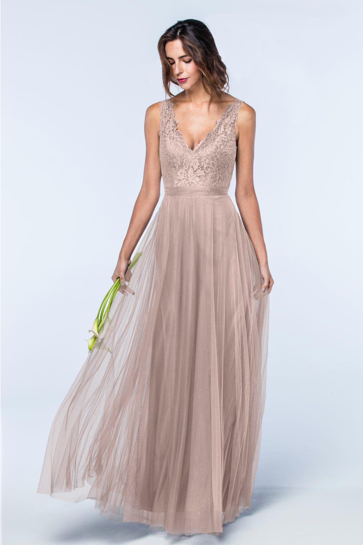 Desiree 2600 bridesmaids watters erre wedding pinterest watters 2600 is the desiree style bridesmaid dress where aria lace and bobbinet combine to create this romantic beauty a v neck lace bodice sits above a ombrellifo Choice Image