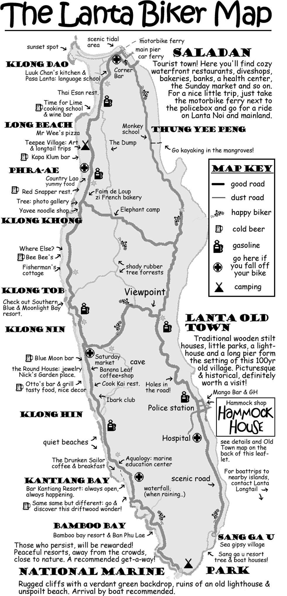The Lanta Biker Map is an alternative map of Lanta