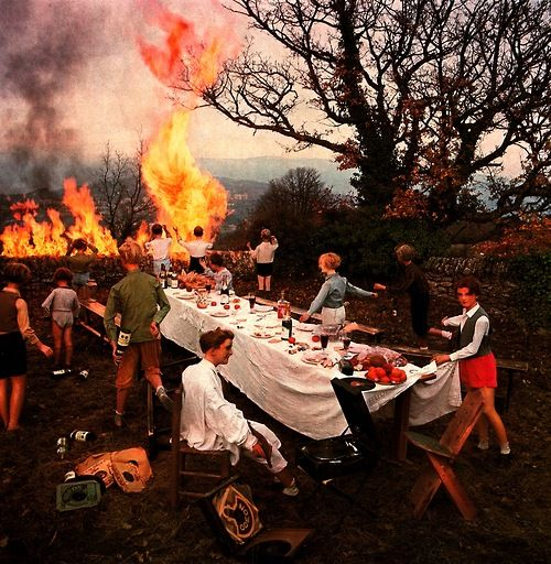 The Banquet by Bernard Faucon. I have a copy of this on my wall - it always makes me laugh for some reason!