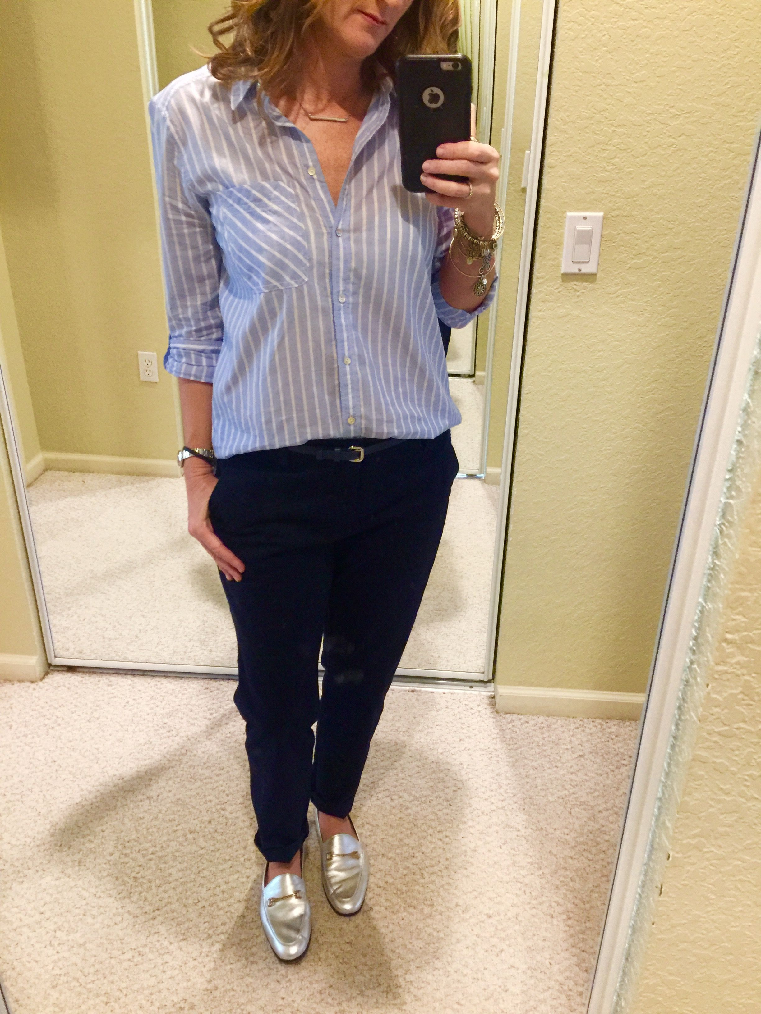Office Wear Navy Silver Shoes