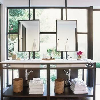 Bathroom Vanity In Front Of Window Contemporary Bathroom Impressive Contemporary Bathroom Vanity Review