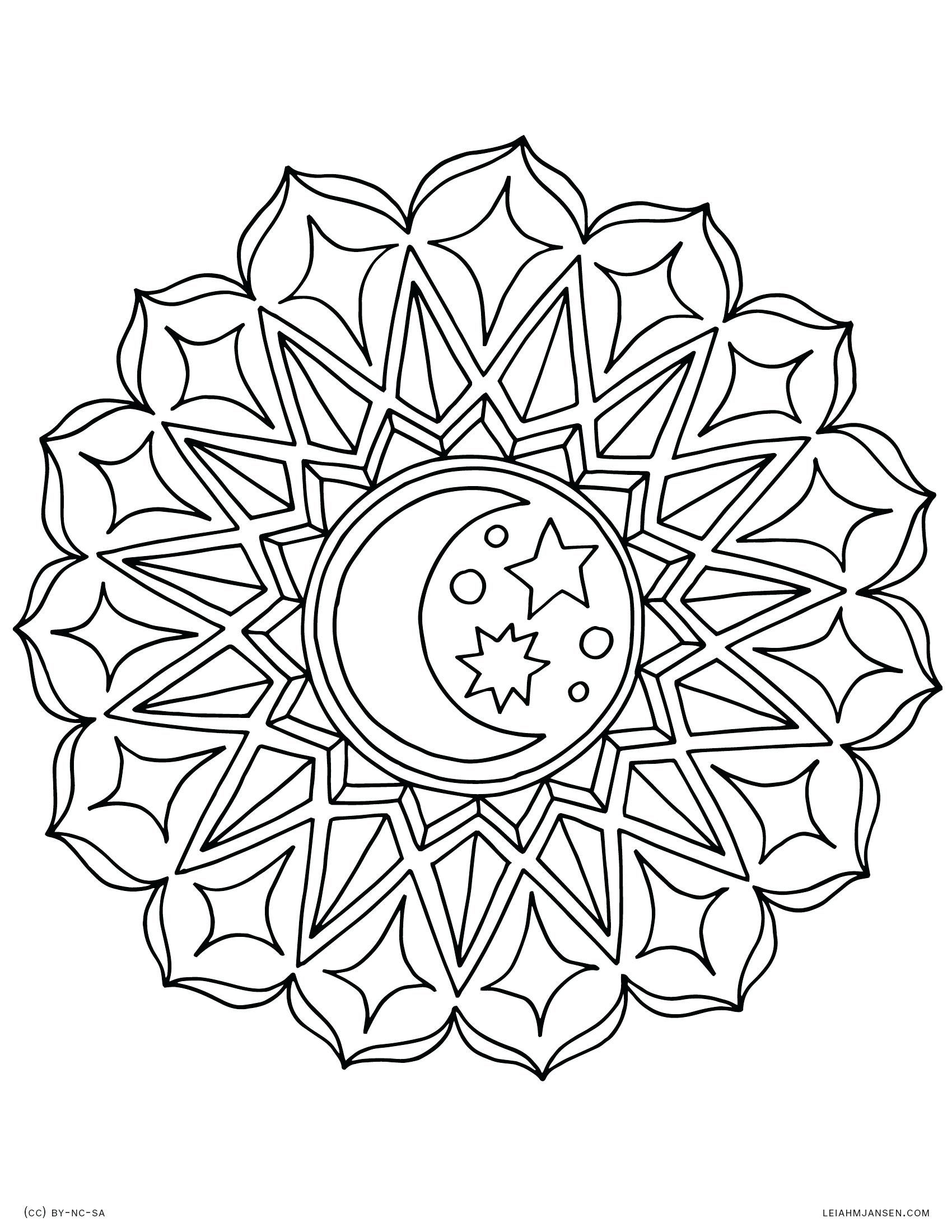 Celestial Moon Coloring Pages For Adults