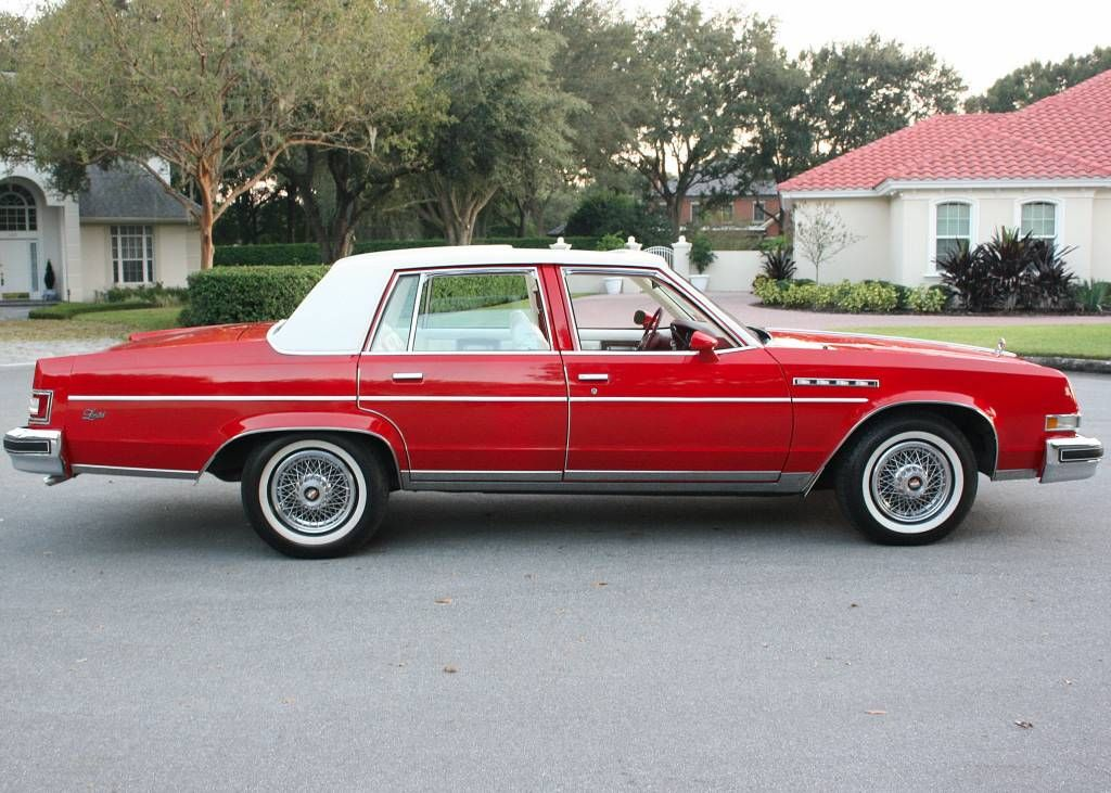 1978 Buick Electra Limited In Bright Red And White Buick