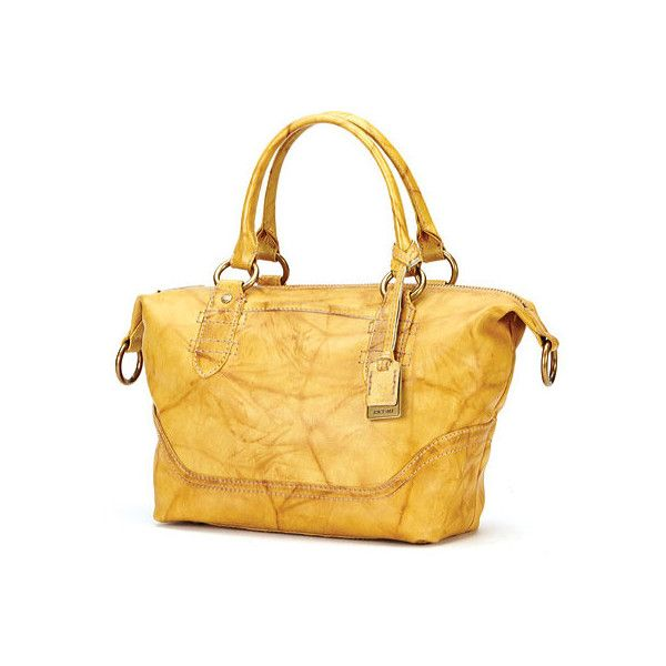 Women's Frye Campus Zip Satchel - Banana Satchels ($250) ❤ liked ...
