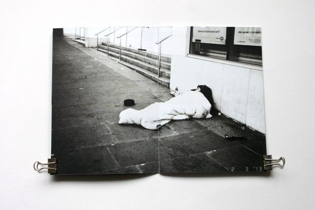 A black and white photography zine featuring locations around manchester england