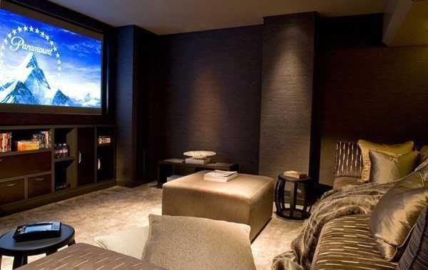 25 gorgeous interior decorating ideas for your home theater or media room basements wall - Best paint color for home theater ...