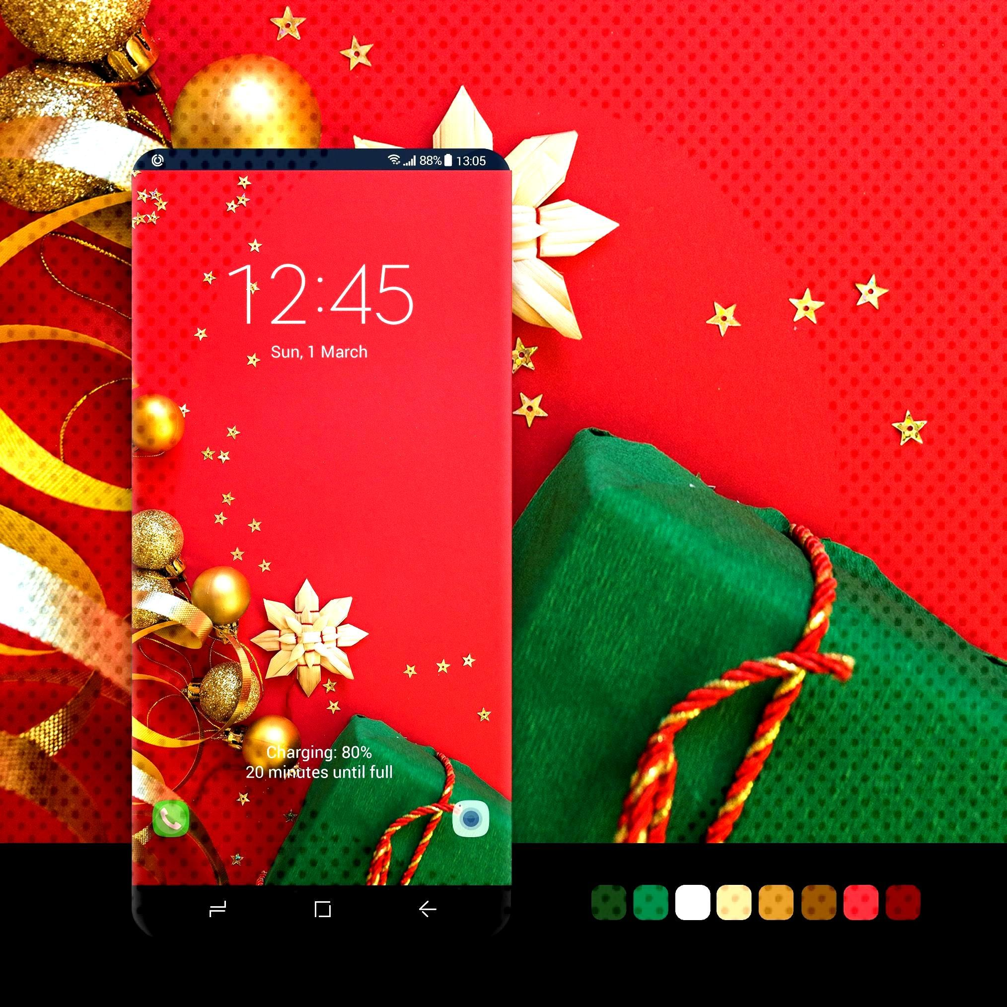 samsung wallpaper s7 edge Red Christmas Wallpaper