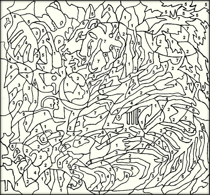 Difficult Color By Number Printables For Adults Color Zini Coloring Pages For Teenagers Coloring Pages Free Coloring Pages