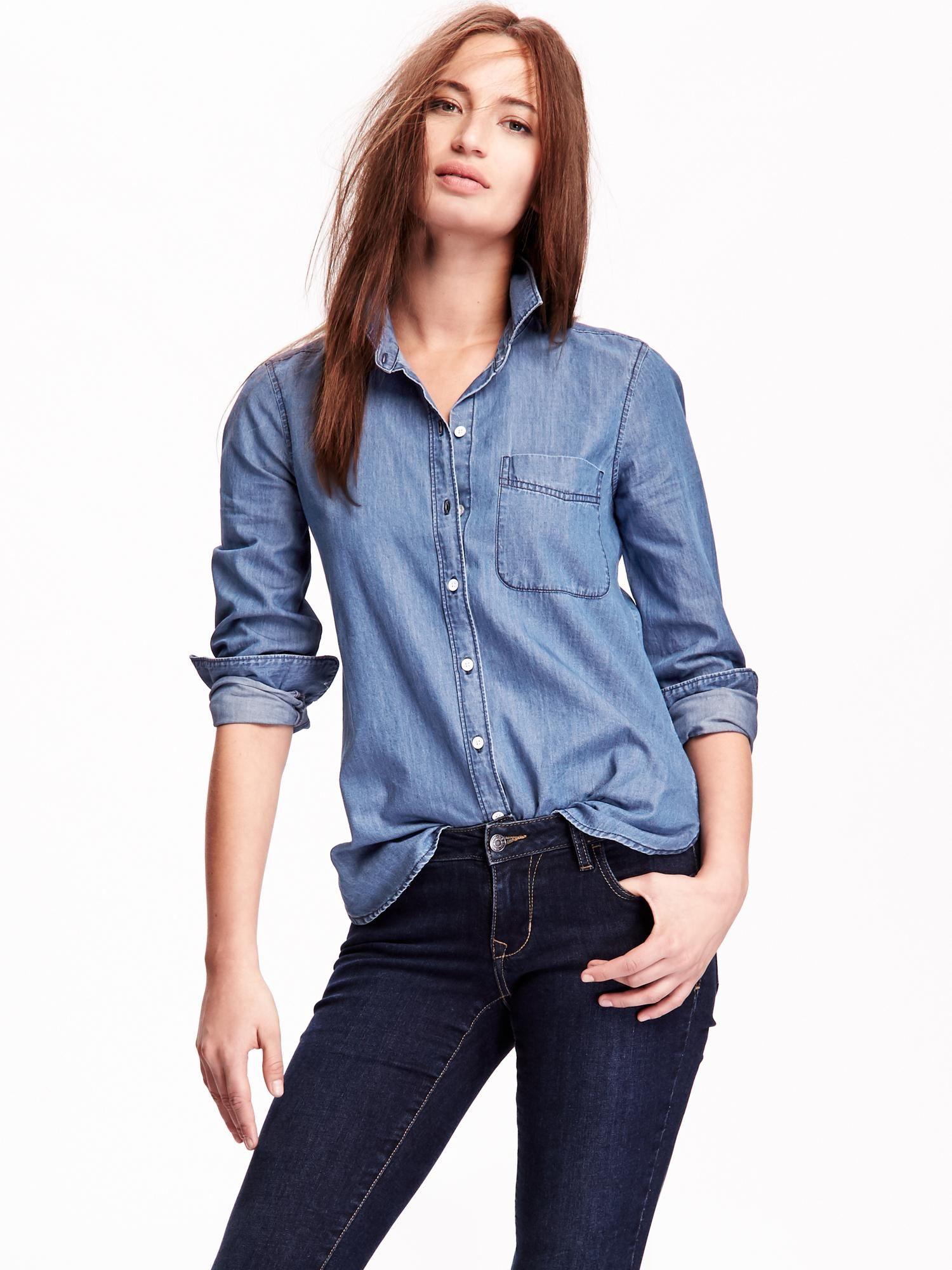 Old navy chambray buttondown shirt chambray shirt