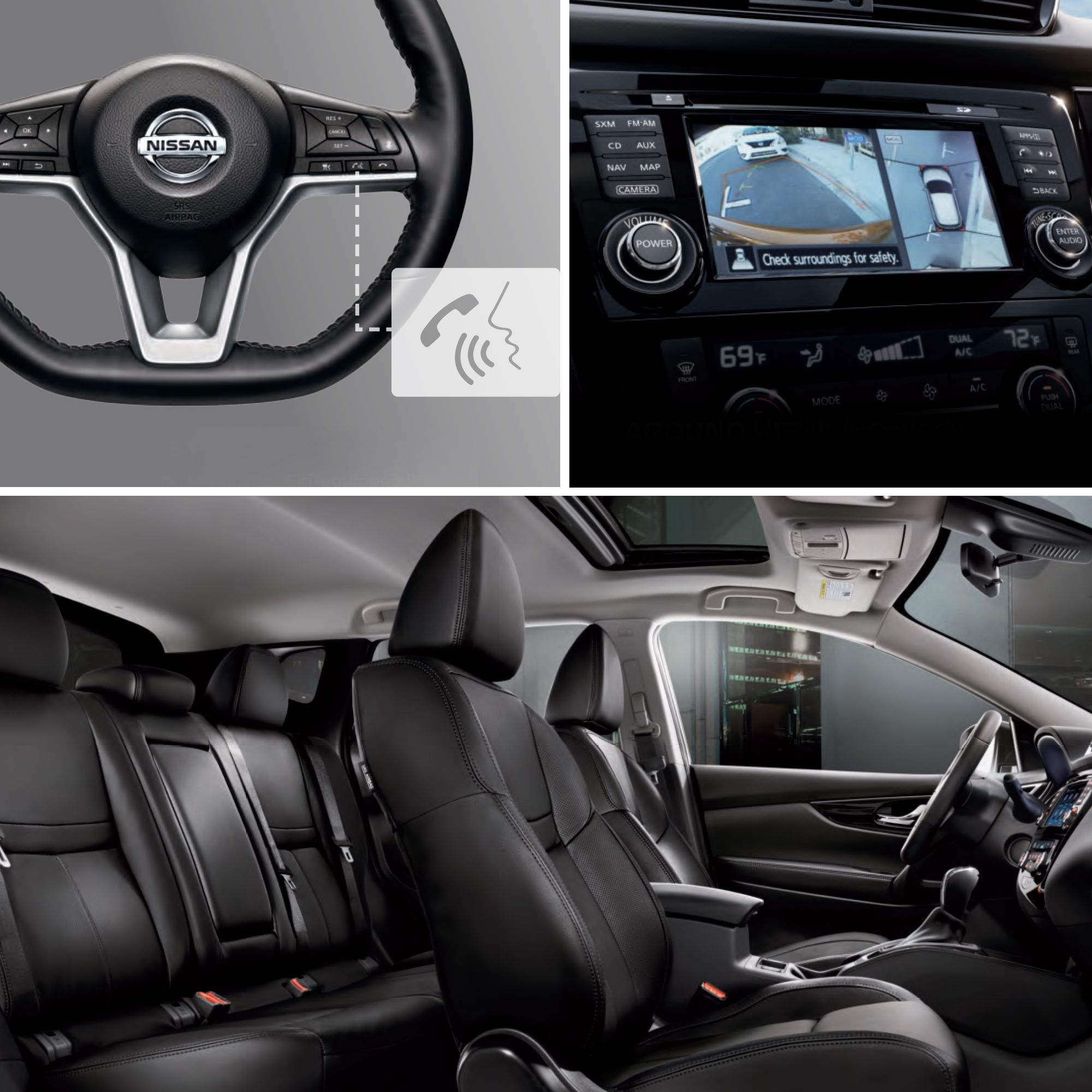STAY CONNECTED: 2017 Nissan Rogue Sport Interior technology