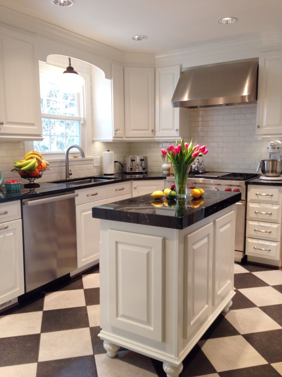 Bm Dove White Kitchen Cabinets Milky Way Granite Counters Light Fixture From Schoolhouse Elec Kitchen Inspirations Kitchen White Kitchen