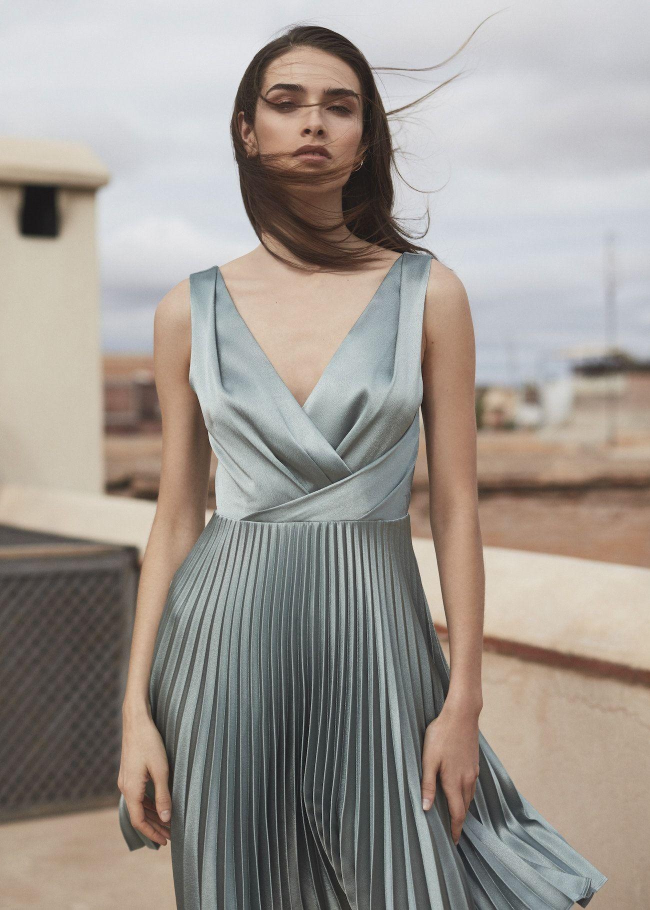 b33e3d735088 Reiss Alicia Knife-pleat Midi Dress for Bridesmaid Dress ...