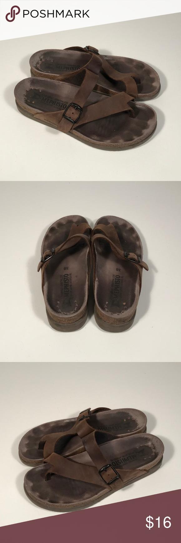 Mephisto Air Relax Comfort Sandals Women 38 Womens
