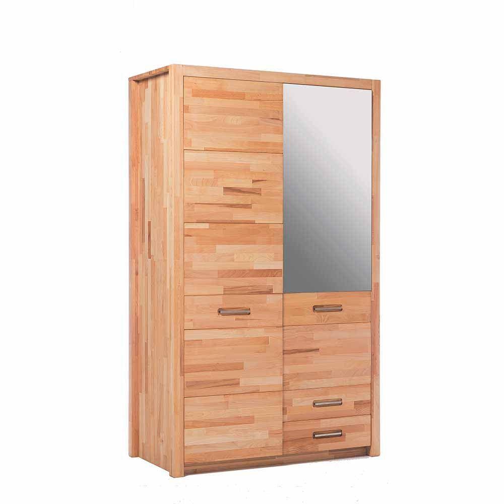 120 Cm Breiter Schlafzimmerschrank Josha Aus Kernbuche Massivholz