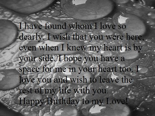 Heart Touching Happy Birthday Wishes For Boyfriend