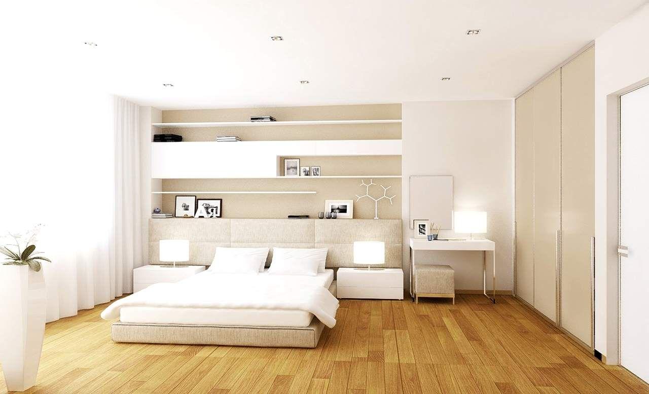 exceptional schlafzimmer holzboden #1: schlafzimmer modern gestalten neutrale farben weiß creme holzboden | Suíte  | Pinterest | Bedrooms, Spaces and Interiors