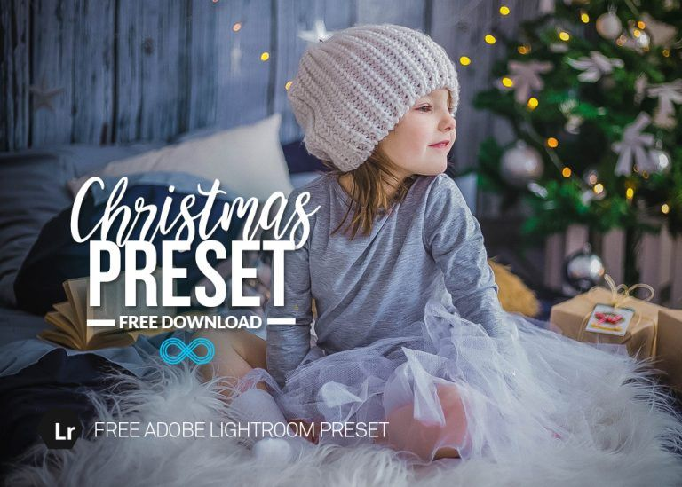 Free Christmas Lightroom Preset for Family Portraits by