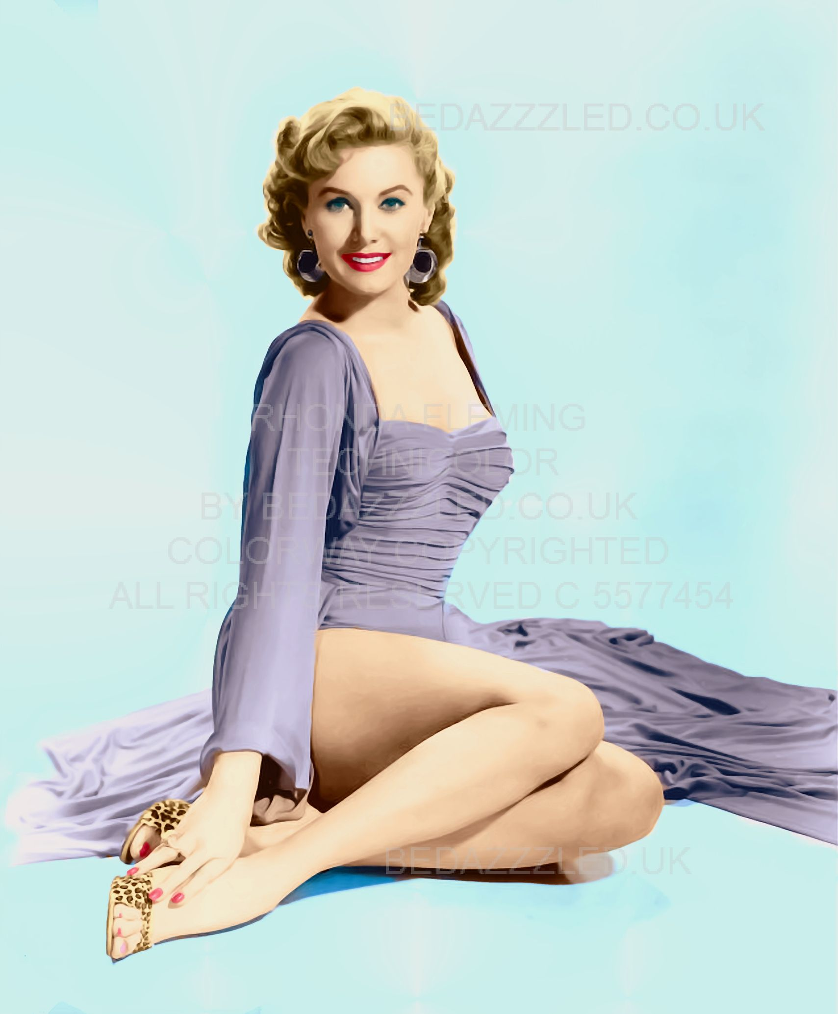 RHONDA FLEMING COLOR BY BEDAZZZLED ...