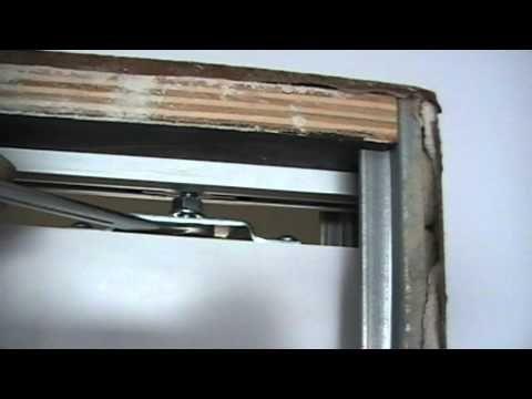 Instalaci n de una puerta corredera empotrada youtube - Hacer una puerta corredera ...