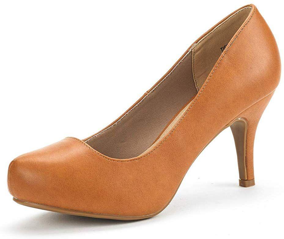 DREAM PAIRS Womens Sexy Peep Toe High Heel Platform