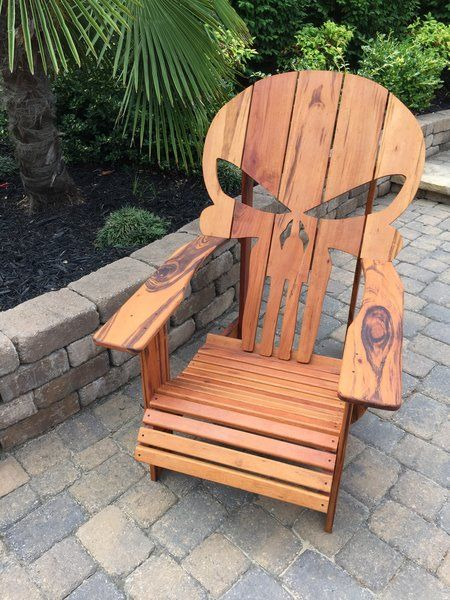 Skull Adirondack Chair & Skull Adirondack Chair | PUNISHER | Pinterest | Punisher Badass and ...