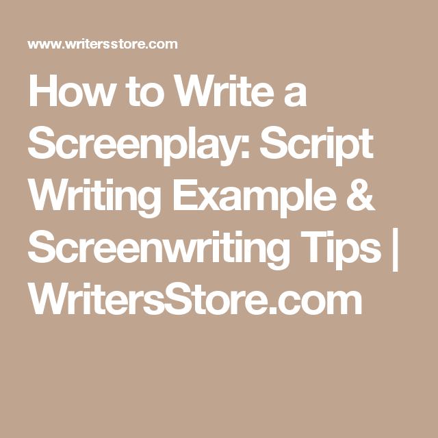 How To Write A Screenplay Script Writing Example  Screenwriting