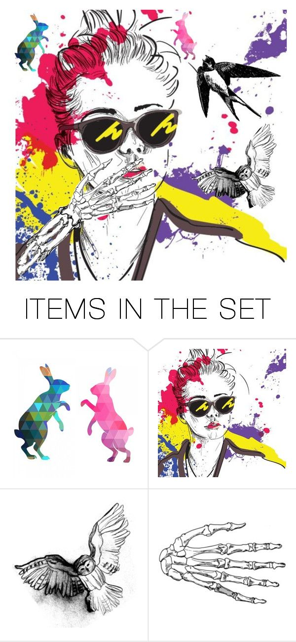 """""""(^_-)"""" by katnielson ❤ liked on Polyvore featuring art"""