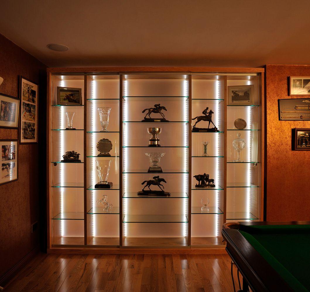 Led Lighting In Background Gives Simple But Impressive Effect Trophy Cabinetsgl Display