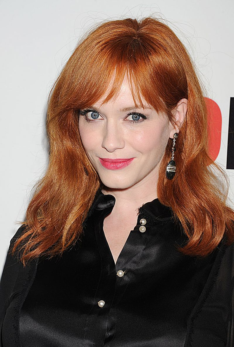Thought Christina Hendricks Was A Natural Redhead See Our List Of 10 Celebrities Whose Natural Celebrity Hair Colors Christina Hendricks Celebrity Hairstyles
