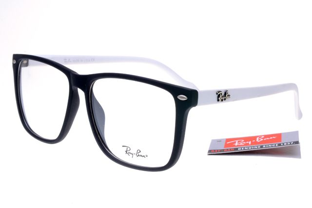 ray ban sunglasses online sale  Ray-Ban Square 2428 Black White Frame Transparent Lens RB1126