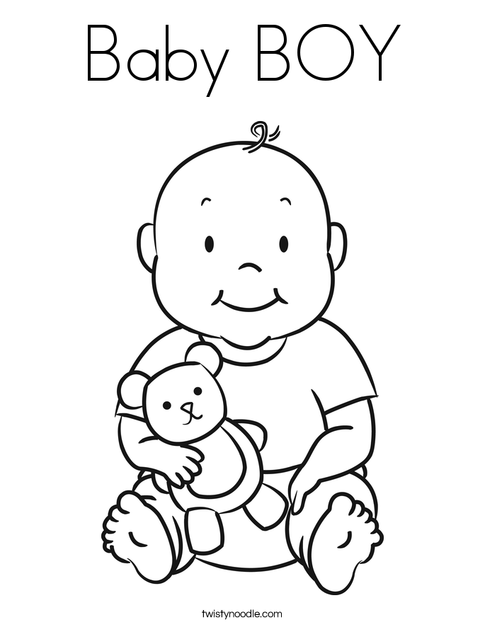 boy baby shower coloring pages baby boy coloring page - Baby Shower Coloring Pages