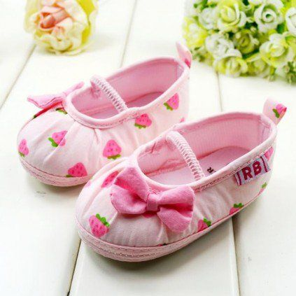 Intelligent First Walkers 2016 Baby Shoes New Kids Girls Baby Princess Shoes Lace Polka Dot Bowknot Soft Crib Shoes Uk Baby Shoes