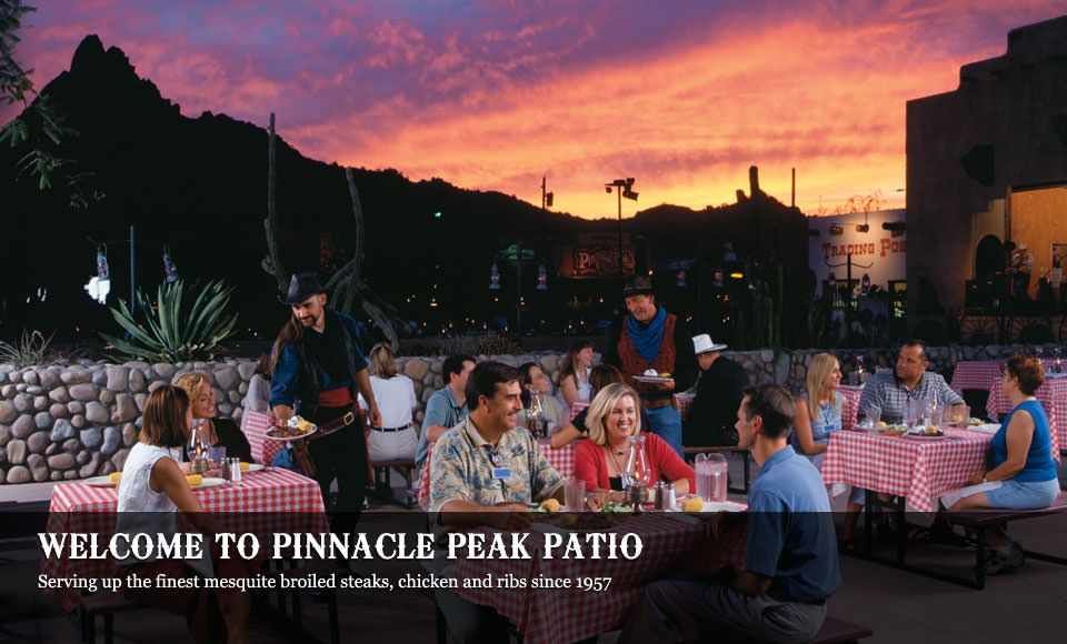 Outdoor Dining On One Of The Patios At Pinnacle Peak Patio Steakhouse,  North Of Scottsdale. Put This On Your List Of Places To Go If Youu0027re Ever  In The ...
