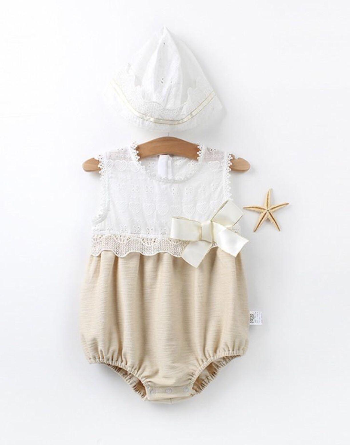 Baby Girl Clothes Infant Newborn Cap Hat+Romper Bodysuit Jumpsuit Playsuit Set