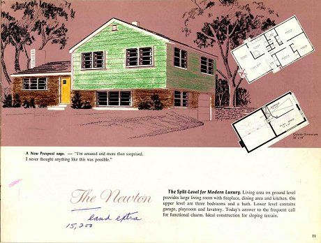 Majestic Design Ideas 9 1960 Split Level House Plans 1960s House