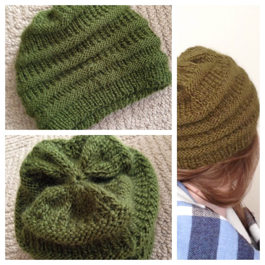 Easy Knit Slouchy Beanie Pattern | Knitting patterns, Slouchy beanie ...