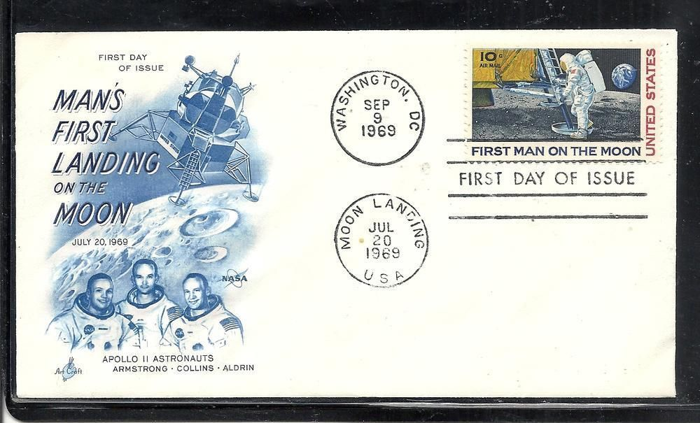 Apollo 11 First Man On The Moon US Stamp Landing Postmark Day Cover 3