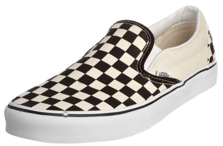 dd8f20862212e2 Men s Vans Classic Slip-on Black White Checker Fashion Sneakers VN-0EYEBWW  NEW