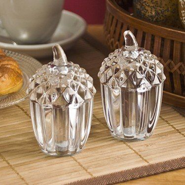 """Acorn Salt/Pepper Shakers - Case Pack 12 SKU-PAS1121581 by DDI. $305.56. All of the products showcased throughout are 100% Original Brand Names.. Please refer to the title for the exact description of the item. 100% SATISFACTION GUARANTEED. Acorn Salt & Pepper Shakers. Dimensions (LxWxH): 2.5"""" x 2.5"""" x 3.5""""."""