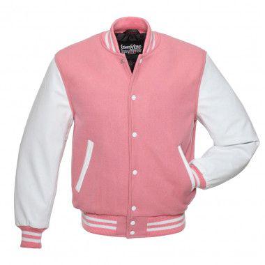 Letterman Bomber Varsity Baseball Black Wool /& White Pure Leather Sleeves jacket